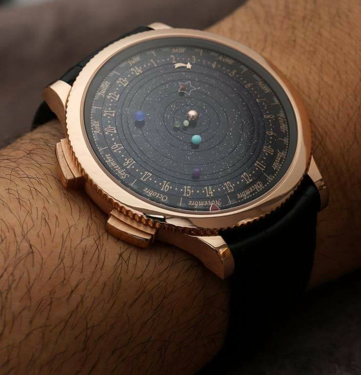 A watch that shows the current position of the Planets
