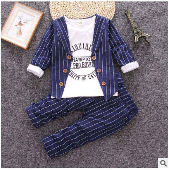 2018 new boy spring and autumn suit long sleeve small